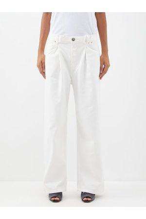 Raey Women Boyfriend Jeans - Fold Organic-cotton Dad Baggy Boyfriend Jeans - Womens