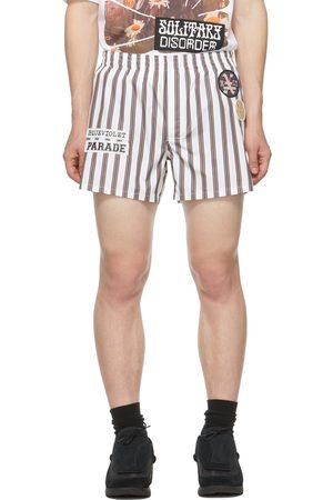RAF SIMONS Men Boxer Shorts - White Striped Patch Boxer Shorts