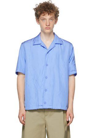 Bottega Veneta Blue Printed Fluid Parachute Short Sleeve Shirt