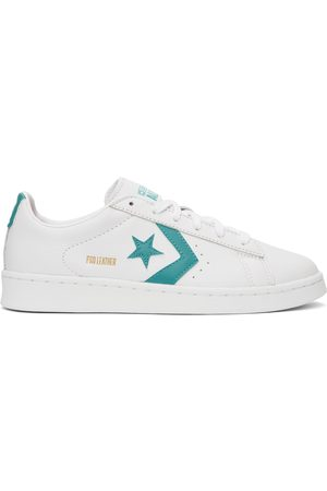 Converse Men Sneakers - White & Blue Leather Pro OX Sneakers