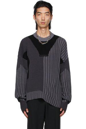Kennel Schmenger Gmbh Men Sweatshirts - Black & Grey Knit Mies Sweaters