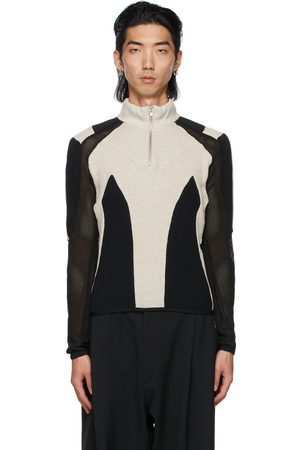 Kennel Schmenger Gmbh Men Hoodies - Black & Grey Paneled Atris Zip-Up Sweater