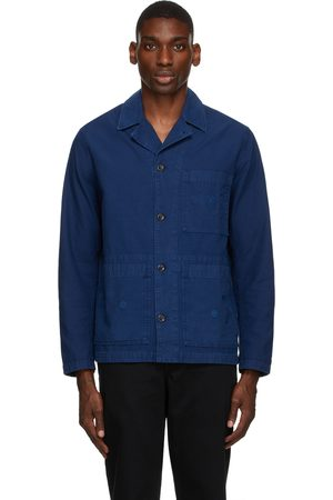 Norse projects Blue Geoff McFetridge Edition Back Satin Mads Jacket