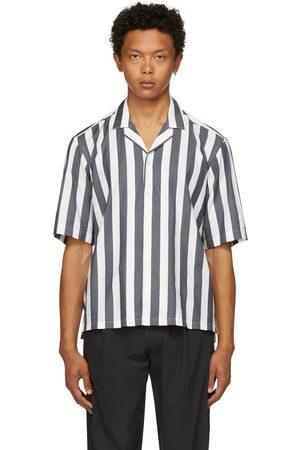 HUGO BOSS White & Navy Lello Short Sleeve Shirt