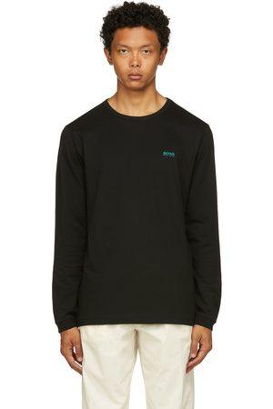 HUGO BOSS Black & Green Togn Long Sleeve T-Shirt