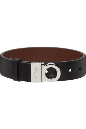 Salvatore Ferragamo Reversible Black & Brown Gancini Bracelet