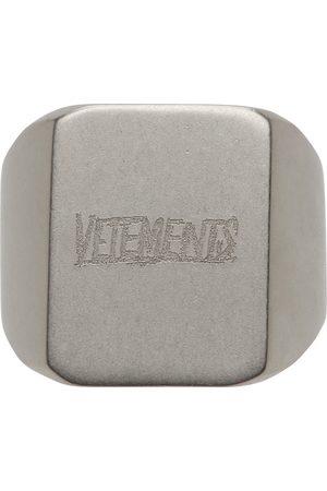Vetements Men Rings - Scratched Logo Ring