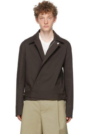 Bottega Veneta Men Jackets - Brown Cotton Waterproof Jacket