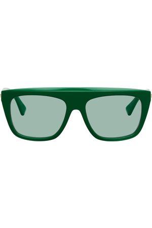 Bottega Veneta Green Acetate Sunglasses