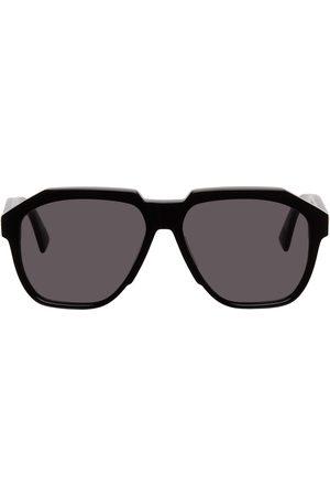 Bottega Veneta Black Acetate Square Sunglasses