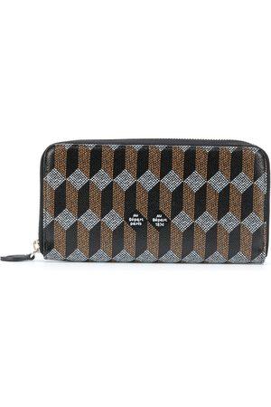 Au Départ Women Wallets - Monogram-print zip wallet