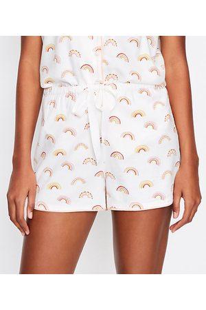 LOFT Rainbow Pajama Shorts