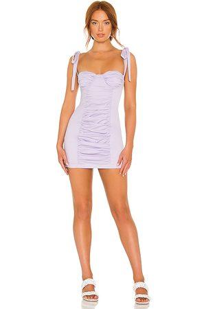 Camila Coelho Rosie Mini Dress in Lavender.