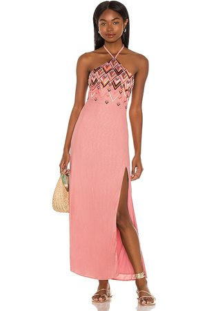 House of Harlow X Sofia Richie Marlena Embroidered Maxi Dress in Pink.