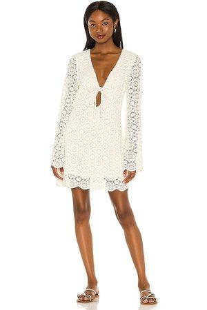 House of Harlow X Sofia Richie Birkin Mini Dress in Ivory.