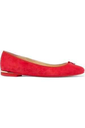 Jimmy Choo Woman Jennie Knotted Suede Ballet Flats Size 41