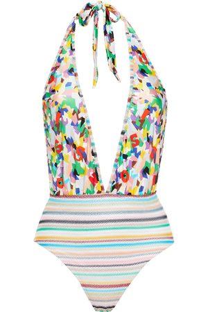Missoni Women Swimsuits - Woman Mare Crochet Knit-paneled Printed Halterneck Swimsuit Size 38