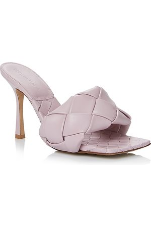 Bottega Veneta Women's Woven High Heel Slide Sandals