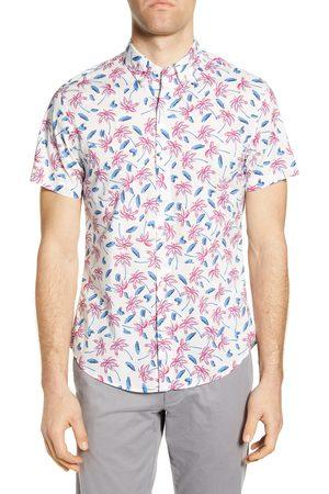 BONOBOS Men Short sleeves - Men's Riviera Slim Fit Tropical Short Sleeve Button-Down Shirt