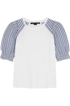 VERONICA BEARD Marcia cotton and seersucker T-shirt