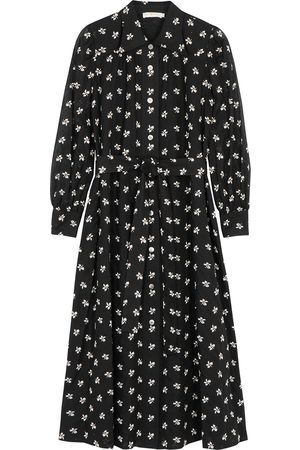 Tory Burch Floral-embroidered cotton shirt dress