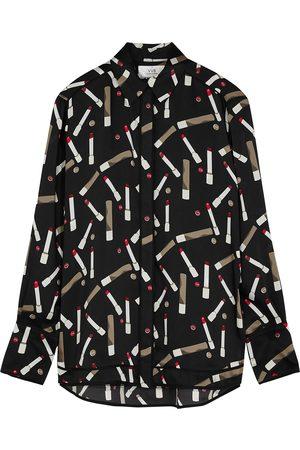 Victoria, Victoria Beckham Women Printed Skirts - Printed satin shirt