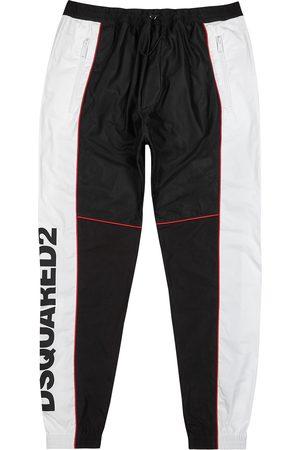 Dsquared2 Men Sports Pants - Panelled logo-print shell sweatpants