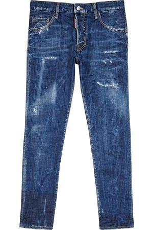 Dsquared2 Skater blue distressed slim-leg jeans