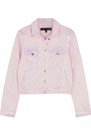 VERONICA BEARD Cara lilac stretch-denim jacket