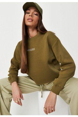 Missguided Tall Khaki Cropped Sweatshirt