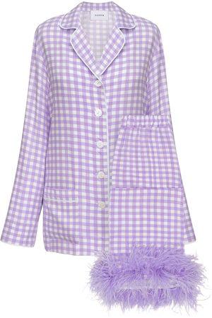 Sleeper Party Pajama Set W/ Feathers
