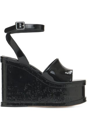 HAUS OF HONEY 125mm Lacquer Doll Patent Leather Wedges