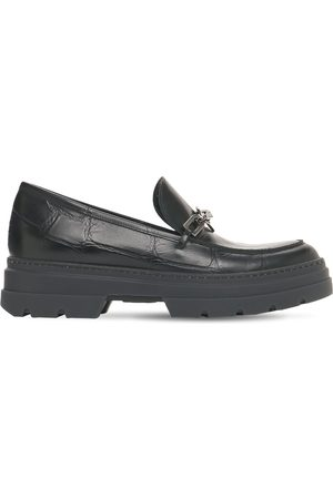Max Mara 50mm Laryn Croc Embossed Leather Loafers
