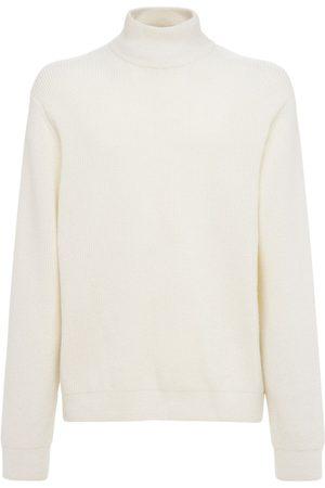 Solid Wool Knit Turtleneck Sweater