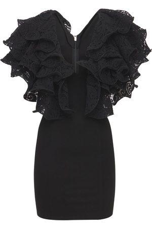 ROTATE Carmen Ruffled Organic Cotton Mini Dress