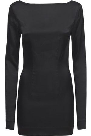 ROTATE Alyssa Long Sleeve Satin Mini Dress