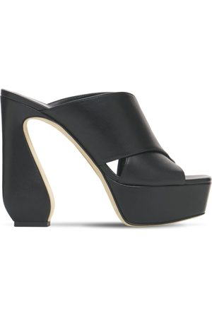 SI ROSSI Women Platform Sandals - 125mm Platform Leather Mules