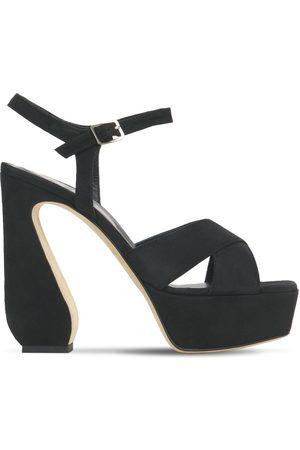 SI ROSSI Women Platform Sandals - 125mm Platform Suede Sandals