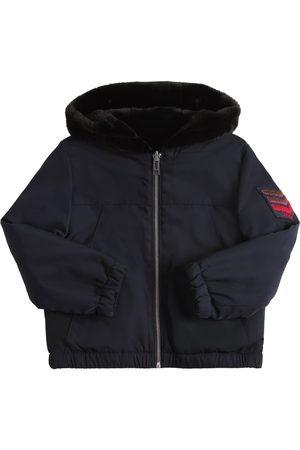 Zadig & Voltaire Reversible Hooded Nylon Bomber Jacket
