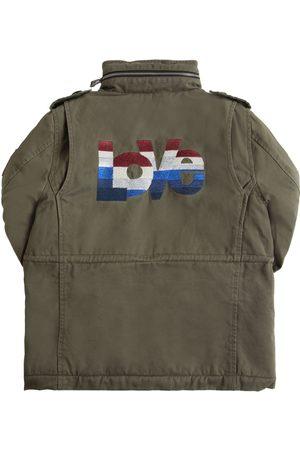Zadig & Voltaire Lurex Hooded Cotton Parka Coat