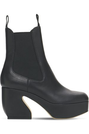 SI ROSSI 85mm Platform Leather Ankle Boots