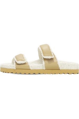 GIA 20mm Leather & Terry Cloth Sandals