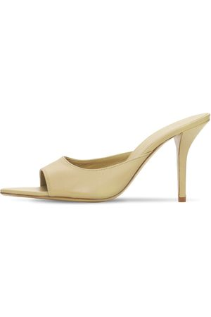 GIA 85mm Pointed Toe Leather Mules
