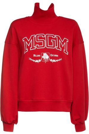 Msgm Women Sweatshirts - New College Printed Sweatshirt