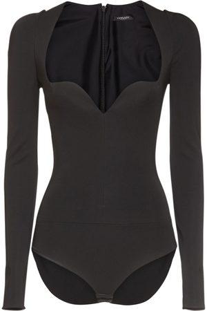 VERSACE Heart Neck Jersey Bodysuit