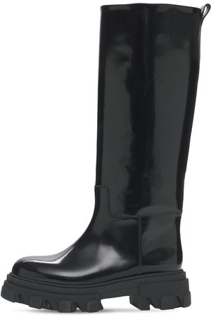 GIA 40mm Brushed Leather Combat Boots