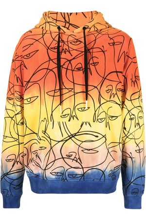 HACULLA Graphic print ombre hoodie