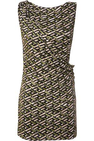 VERSACE Women Casual Dresses - Monogram Printed Jersey Mini Dress