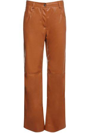 Msgm Faux Leather Pants