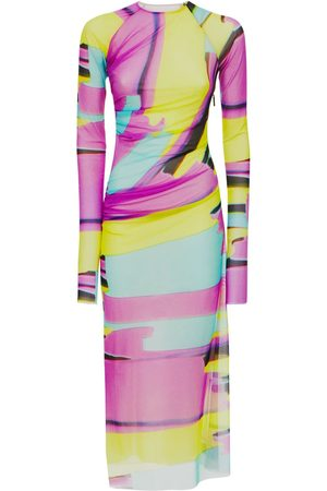 Msgm Printed Stretch Jersey Midi Dress